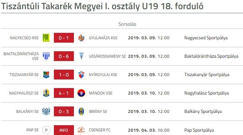 Baktaloranthaza VSE -Vasarosnameny SE U19 bajoki labdarugo merkozes (3)
