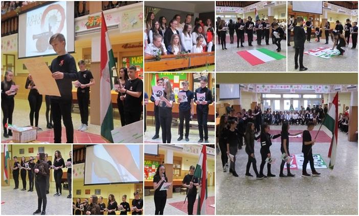 Egyedülálló március 15-i előadás az Eötvös diákoktól Vásárosnaményban