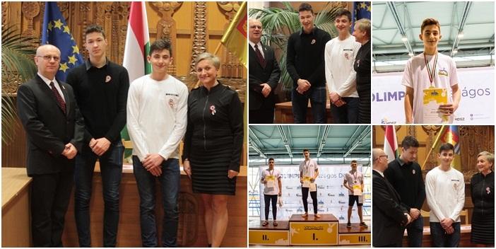 Vásárosnamény diákolimpiai bajnokait köszöntöttek a városházán