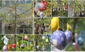 Ünnepi hangulat a Bereg szívében rengeteg tojással feldíszített húsvéti tojásfa ékesíti Vásárosnaményt