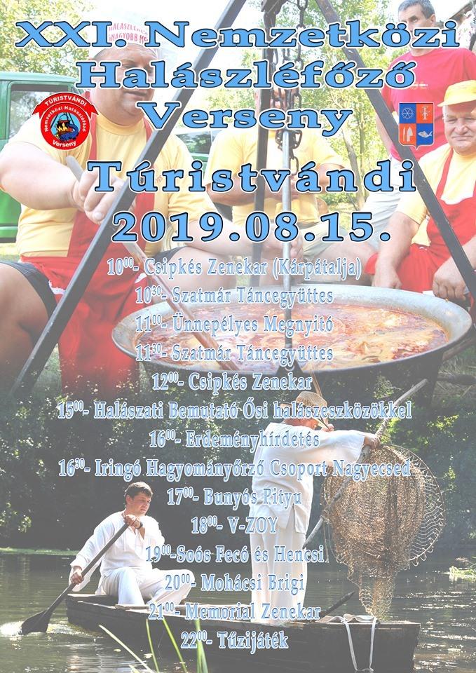 XXI. Nemzetközi Halászléfőző verseny Turistvandi